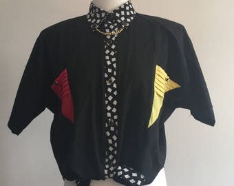 Unbelievably 80's Australian made cotton shirt size 12