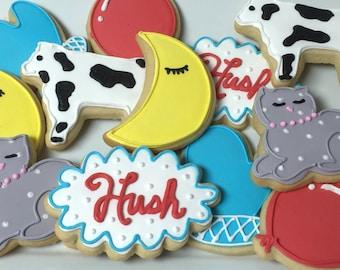 Goodnight Moon inspired cookie assortment, one dozen