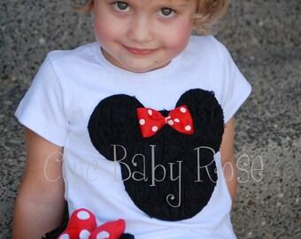 Die Maus-Kollektion von Chic Baby Rose Spitze Rüschen Mouse T-Shirt Tank oder Langarm in 21 Farben Ihrer Wahl