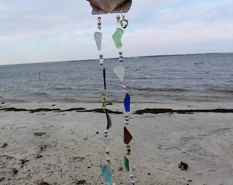 Scallop Shell & Sea Glass Wind Chime