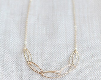 """modern chain necklace // """"serendipity"""" 14k gold filled necklace // handmade jewelry"""