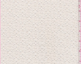 Ivory Floral Lace, Fabric By The Yard