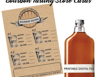 Bourbon Tasting - Bourbon Rating - Bourbon Score Card - Bourbon Party - Bourbon Printable - Whiskey Tasting - Whiskey Printable - Bourbon