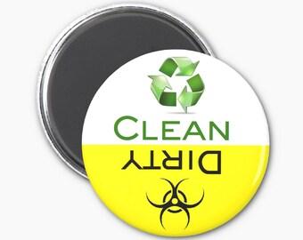 Hazard Clean Dirty Dishwasher Magnet