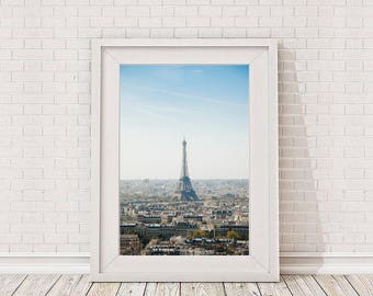 Paris Art Print, Eiffel Tower Paris Wall Decor, France, French Decor, Large Wall Art, Europe Poster, Paris Printable Digital Download