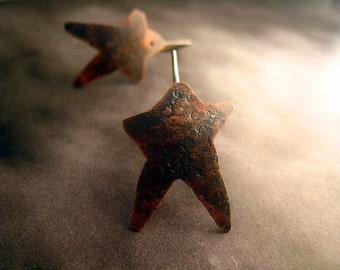 Rustic Star Earrings