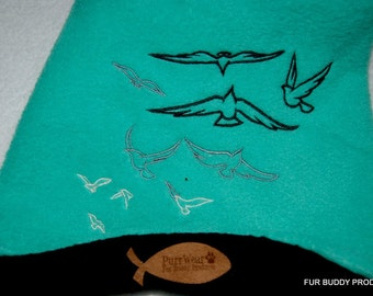 PurrWear Embroidered SlipOn/SlipOff Fleece Sphynx Sweater / Shirt.