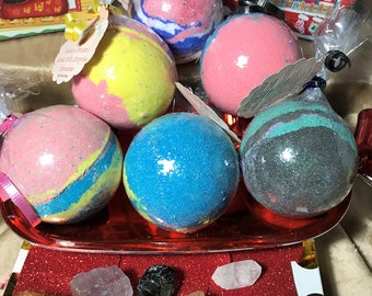 Intuition Chakra Bath Bomb with surprise inside Gemstone scented in Love Spell 3 varieties