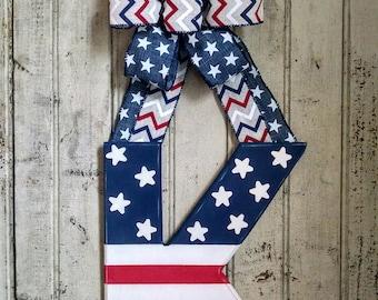 """12"""" American flag letter"""