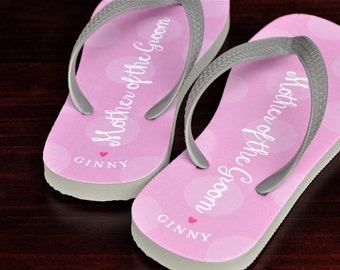 Personalized Flip Flops, Mother of the Groom, Custom Wedding Flip Flops, Wedding Sandal, Flip Flops, Custom, Personalized Name Sandals 124FF