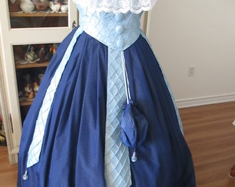 Civil War Ball Gown - 1860-1865 Women's Clothing (Size 16) #NB-62
