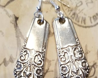 Silver Earrings, Spoon Earrings, Silver, Earrings, Silverware Jewelry, Spoon Jewelry, Gifts for Her,