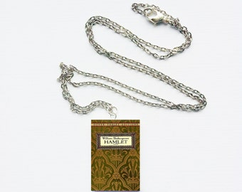 Hamlet mini book necklace