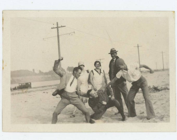 Vintage Snapshot Photo: A Vicious Beating, c1920s (73563)