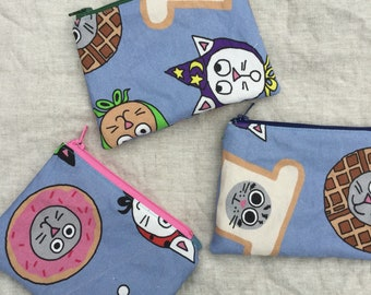 Hand Drawn Zipper Pouches