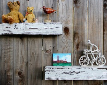 "Floating Shelf Rustic Barn Wood Beam Wall Ledge Wooden Wall Mounted Shelf Floating Wall Shelves Farmhouse Shelves California Woodworker 48"""