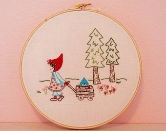 Woodland Walk Embroidery PATTERN