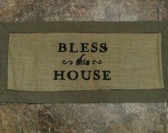 Bless This House Table Runner