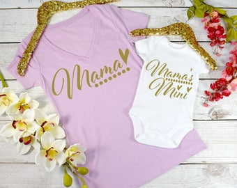 Mommy and Me Outfits, Mamas Mini, Matching Mother Daughter Outfits, Mom and Baby Matching, Mother Daughter Shirts, Matching Outfits  (MAM)