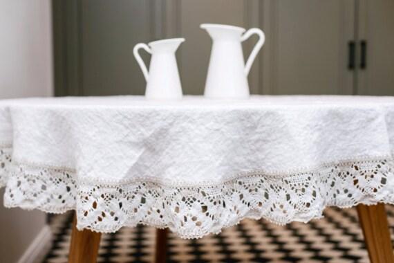 linen tablecloth white round linen tablecloth linen. Black Bedroom Furniture Sets. Home Design Ideas