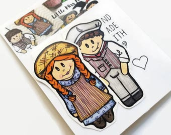 Anne of Green Gables Magnetic Bookmarks, Anne Shirley Fan Gift and Gilbert Blythe Collectible, Handmade Bookmark