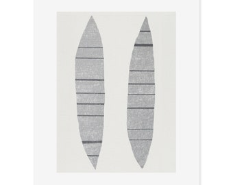 Abstract screenprint / large screenprint, monochrome, greys, original, handmade on finest quality paper by Emma Lawrenson