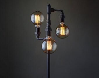 Edison Bulb Floor Lamp   Industrial Furniture   Standing Light   Filament  Bulb   Bare Bulb