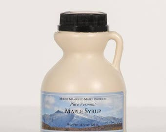 Mansfield Maple Half Pint Pure Vermont Maple Syrup (Choice of Grade)