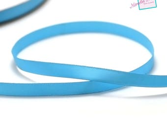 5 m of plain 10 mm turquoise satin ribbon