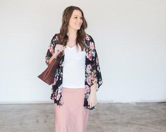 Womens Blush Pink Maxi Skirt