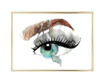 Watercolor Eye Printable Painting Instant Download Printable