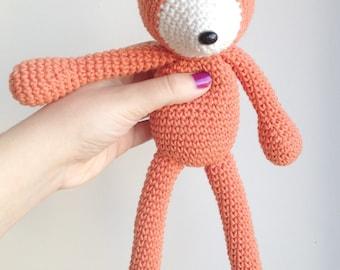 Fox Plush, Fox Stuffed Animal, Fox Plushie, Fox Stuffed Toy, Crochet Fox