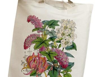 Colorful Flowers Vintage 01 Eco Friendly Canvas Tote Bag (ilp001)