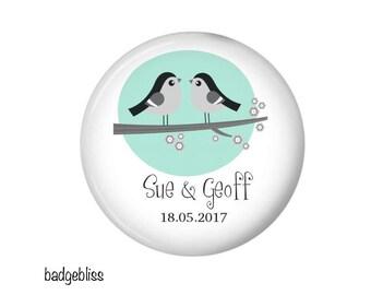 Wedding favour fridge magnets 20 personalised wedding magnet gifts