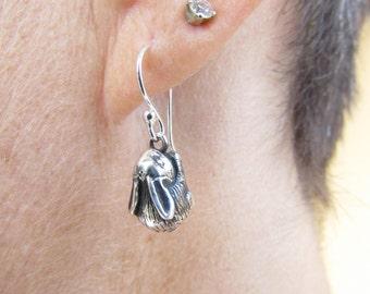Baby bunny earrings