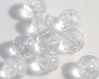 Clear Rose Czech Glass 7mm Rounds   25
