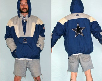 Vintage Dallas Cowboys Starter Pullover Jacket. Dallas Cowboys NFL Football Starter 90s Jacket. 90s Hip Hop Sporty Jacket. Cowboys Gift