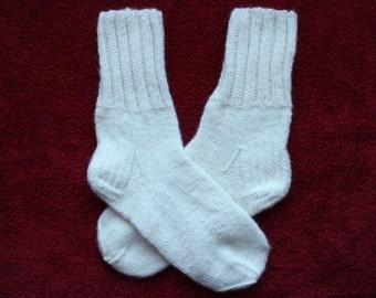 Hand knit wool socks