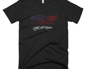 Original Free Your Happy American Flag Hero Short-Sleeve T-Shirt