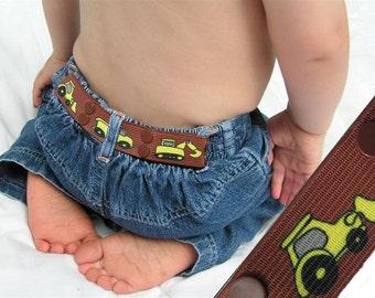 """Toddler Belt - Elastic Snap Belt - """"Construction"""""""