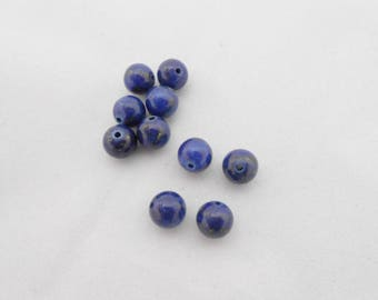 Genuine lapis lazuli 8 mm bead. (9076843)