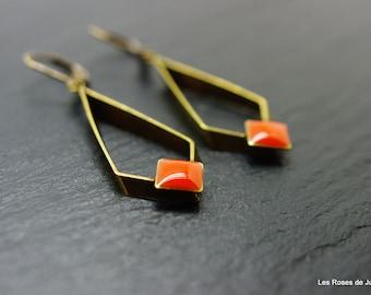 Earrings square earrings