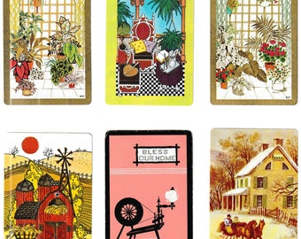 """Vintage """"HOME SWEET HOME"""" Bulk Lot / Assorted / Home / Household / Decor Playing Cards / Swap Cards / Artist Trade Cards"""