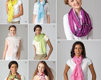 UNCUT Simplicity 2170 Scarf Sewing Pattern Silk Scarf, Taffeta, Formal, Winter, Gift Idea