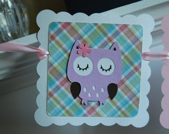 Owl Banner, Owl Baby Shower, Owl Name Banner, Owl Birthday, Owl Nursery, Owl Birthday,
