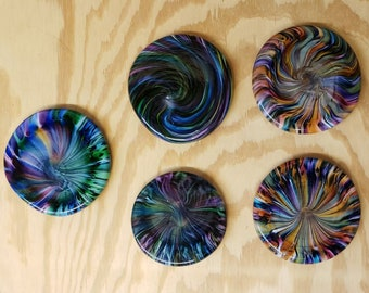 Glass Disc Golf Mini Marker for disc golf, also good for a paper weight and poster weights