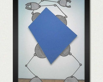 Mike Slobot | Robot Art | Blue Panel Bot