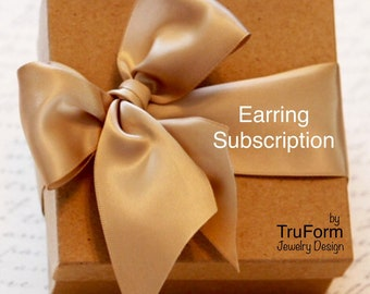EARRING SUBSCRIPTION - Jewelry Subscription, Mothers Day Gift, Monthly Earrings, Artisan Jewelry Subscription, Gift Every Month, ES21