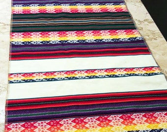 Peruvian table runner, ethnic design,boho chic,Soho decor, Inca fabric,Cuzco decor,ethnic table  runner,textiles,Soho,peruvian textiles,fine