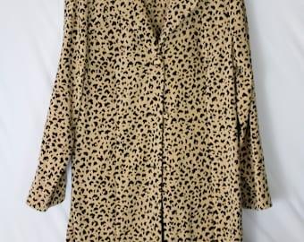 Vintage 1970's Leopard Button Up Jacket